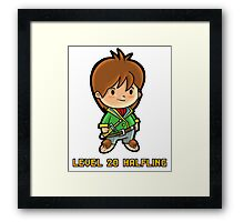 Level 20 Halfling Framed Print