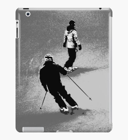 Winter Fun  - Skier and Snowboarder iPad Case/Skin