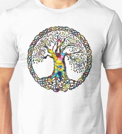 TREE OF LIFE - paint splotches NEW DESIGN Unisex T-Shirt