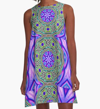 star 7 kaleidoscope A-Line Dress