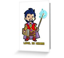 Level 20 Wizard Greeting Card