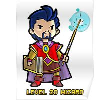 Level 20 Wizard Poster