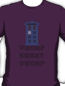 TARDIS - Doctor Who Cross Stitch - Vworp Sweet Vworp T-Shirt