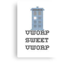 TARDIS - Doctor Who Cross Stitch - Vworp Sweet Vworp Canvas Print