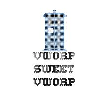 TARDIS - Doctor Who Cross Stitch - Vworp Sweet Vworp Photographic Print