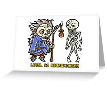 Level 20 Necromancer Greeting Card