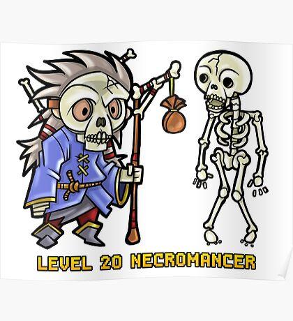 Level 20 Necromancer Poster