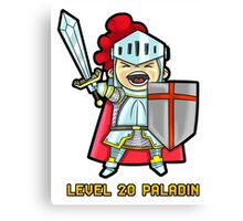 Level 20 Paladin Canvas Print