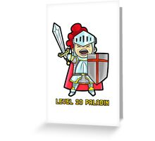 Level 20 Paladin Greeting Card