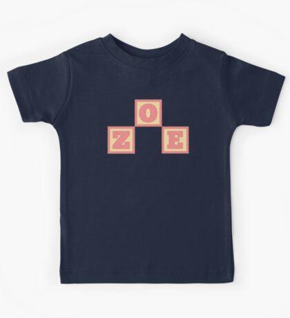 Baby Zoe in alphabet building blocks Kids Tee