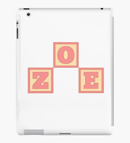 Baby Zoe in alphabet building blocks iPad Case/Skin