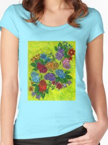 An Explosion of Roses Women's Fitted Scoop T-Shirt