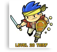 Level 20 Thief Canvas Print