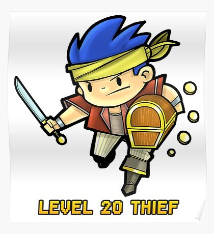 Level 20 Thief Poster