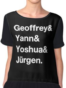 Geoffrey & Yann & Yoshua & Jürgen (white) Chiffon Top