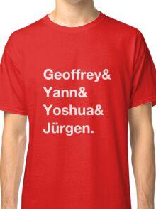 Geoffrey & Yann & Yoshua & Jürgen (white) Classic T-Shirt
