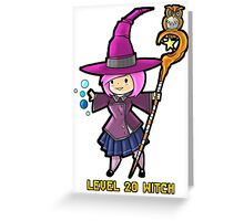 Level 20 Witch Greeting Card