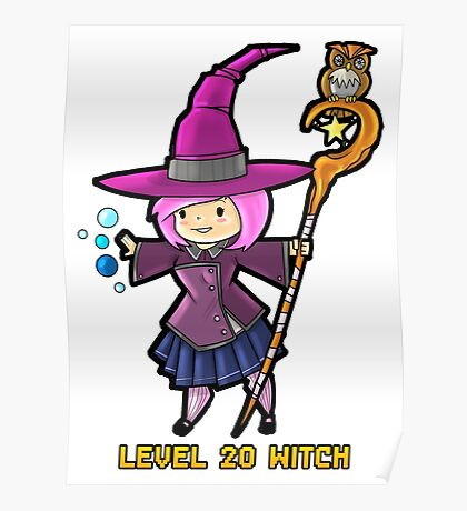 Level 20 Witch Poster