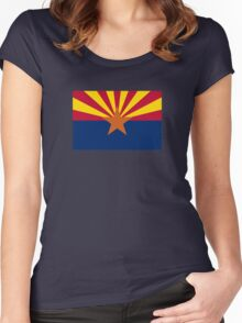 Arizona Flag Women's Fitted Scoop T-Shirt