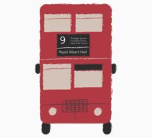 Red Double Decker Bus - Vintage London, England, UK One Piece - Long Sleeve