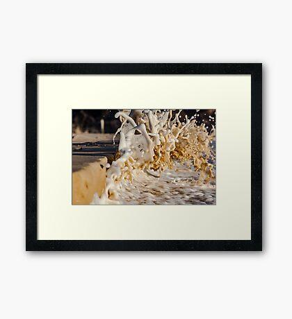 Splashtography - the Art of Splash Framed Print
