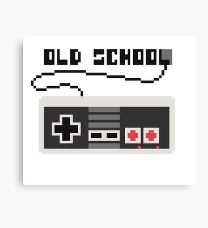 NES joystick. Pixelart. Canvas Print