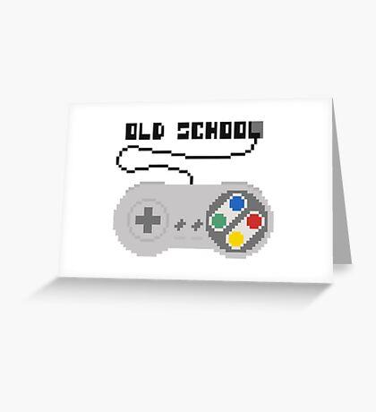 SNES joystick. Pixelart. Greeting Card