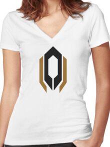 Cerberus Logo Women's Fitted V-Neck T-Shirt