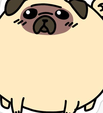 Fat Round Pug Sticker