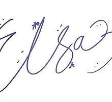Elsa Signature by allyonlyweknow