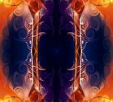 Space Needle Abstract Pattern Artwork by owfotografik
