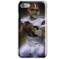 American Footballer in white iPhone Case/Skin