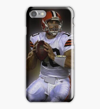 American Footballer in white iPhone Case/Skin