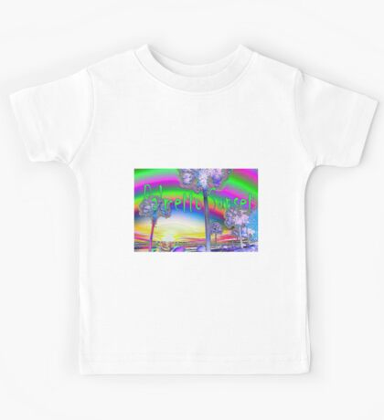 Four Palms, Sunset over the Ashley River Kids Tee