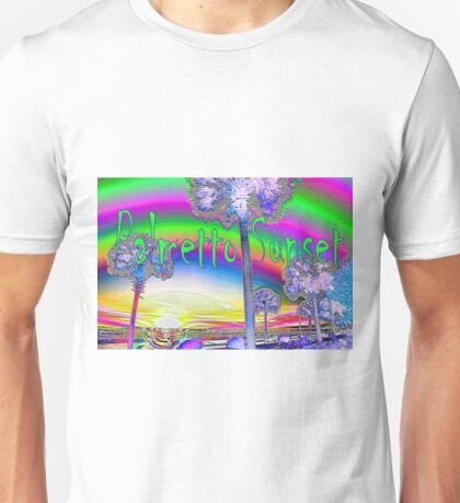 Four Palms, Sunset over the Ashley River Unisex T-Shirt