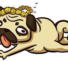 Dandelion Pug-- Fawn by pettyartist