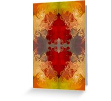 Passionate Explosions of Colorful Reality Greeting Card
