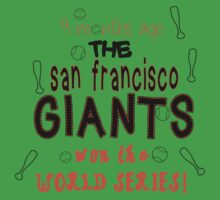 San Francisco Giants New Born Shirt Kids Clothes