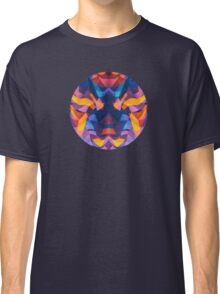 Abstract Surreal Chaos theory in Modern Blue / Orange Classic T-Shirt