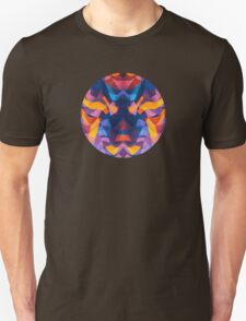 Abstract Surreal Chaos theory in Modern Blue / Orange Unisex T-Shirt