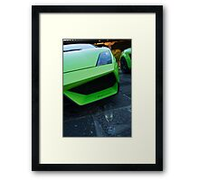 Bubbly Lamborghini  Framed Print