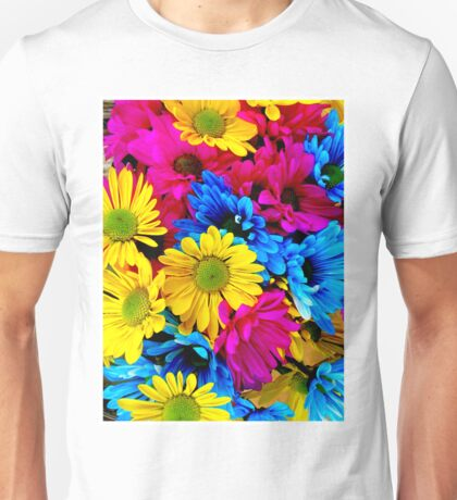 LARGE COLORFUL FLOWERS; Modern Abstract Print Unisex T-Shirt