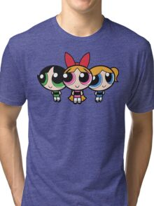 Power Puff Girls - Group Tri-blend T-Shirt
