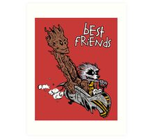 Raccoon and Tree Art Print