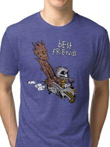 Raccoon and Tree Tri-blend T-Shirt