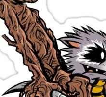 Raccoon and Tree Sticker