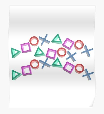 PS4 Controller Buttons Poster