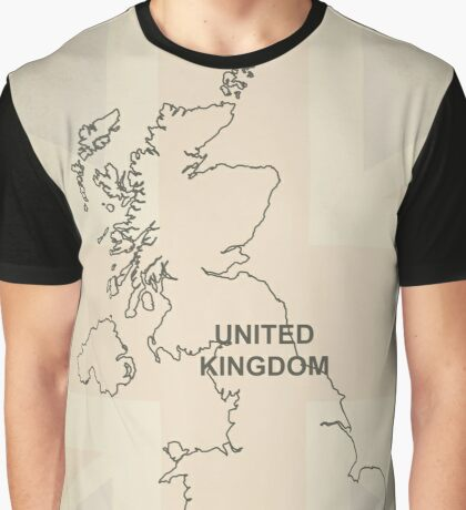 UK outline map Graphic T-Shirt
