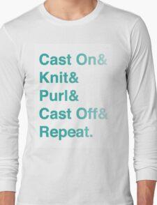 Knitting Addict - Yarn Hoarders & Needlecrafters Unite! Long Sleeve T-Shirt