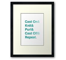 Knitting Addict - Yarn Hoarders & Needlecrafters Unite! Framed Print